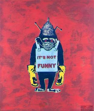 Adams/Not Banksy, Harry: Covid-19 5G Conspiracy Chimp