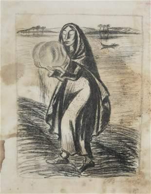 Barlach, Ernst: Hirte/Frau am Wasser