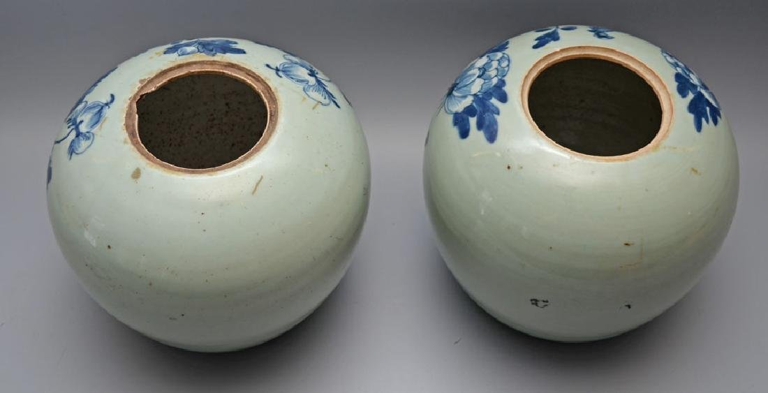 Pair of Antique Chinese Ginger Porcelain Jars - 3