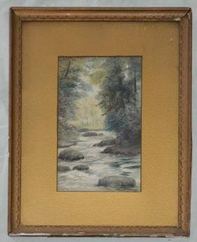 Signed Charles R Loomis Watercolor Painting