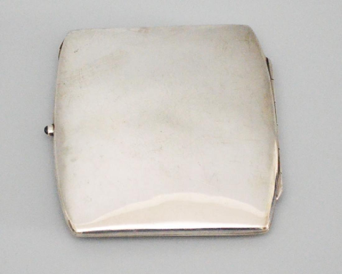 Swedish Enamel & Sterling Cigarette Case - 2