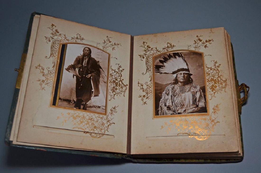 Native American Cabinet Card Album
