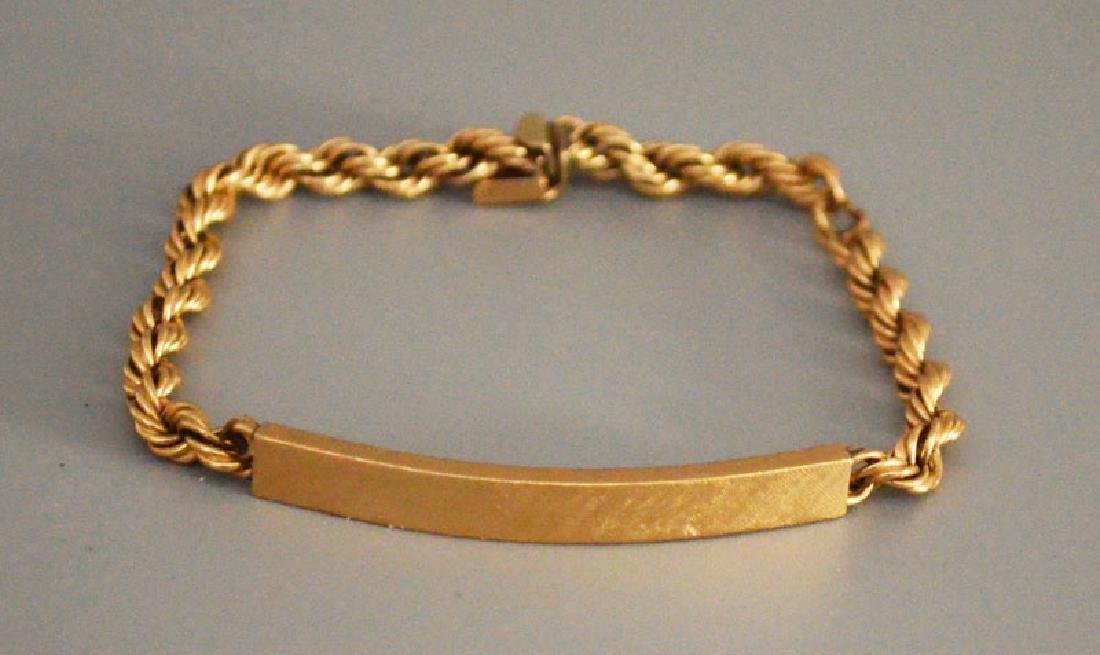 Petite Retro 14K Gold ID Bracelet