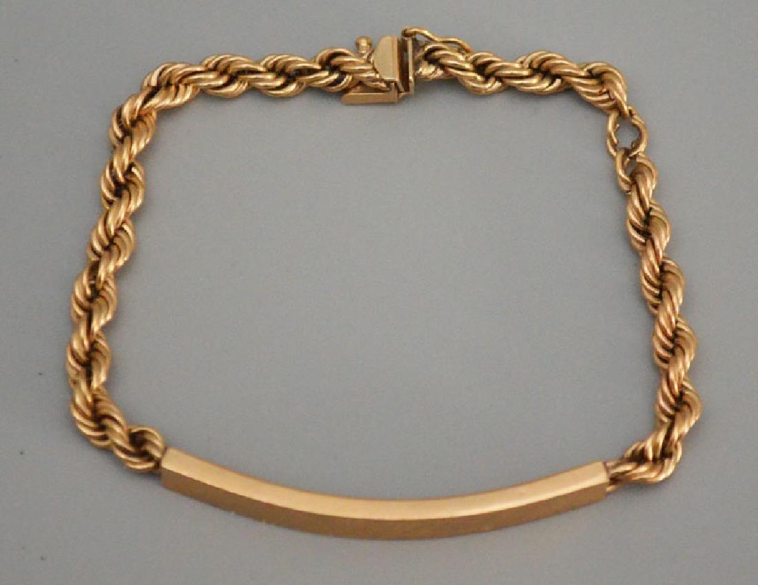 Petite Retro 14K Gold ID Bracelet - 2