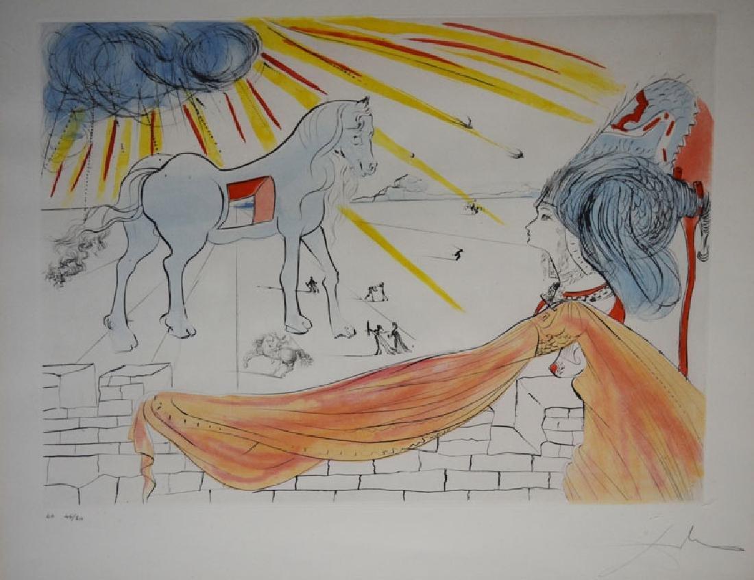 Dali Helen & Trojan Horse Signed Artist Proof - 2