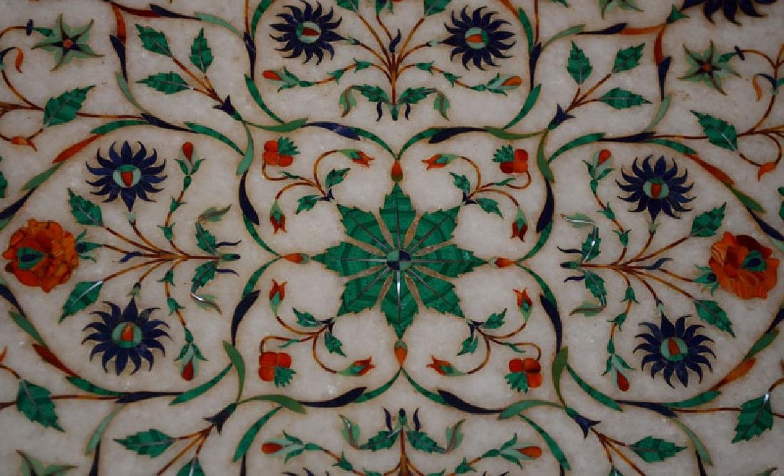 Pietra Dura  Style Inlaid Marble Table Top - 2
