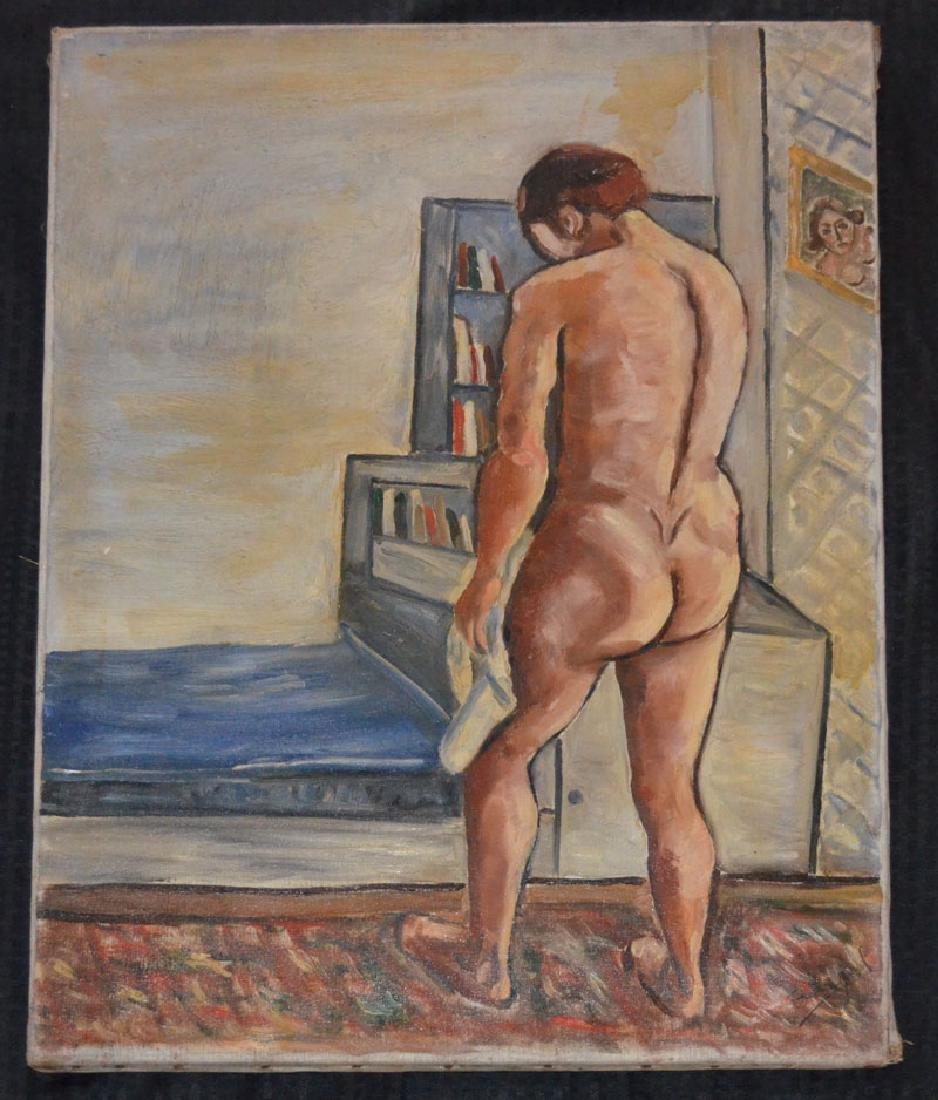 1930 Boccini Manuel Le Bain Nude Painting