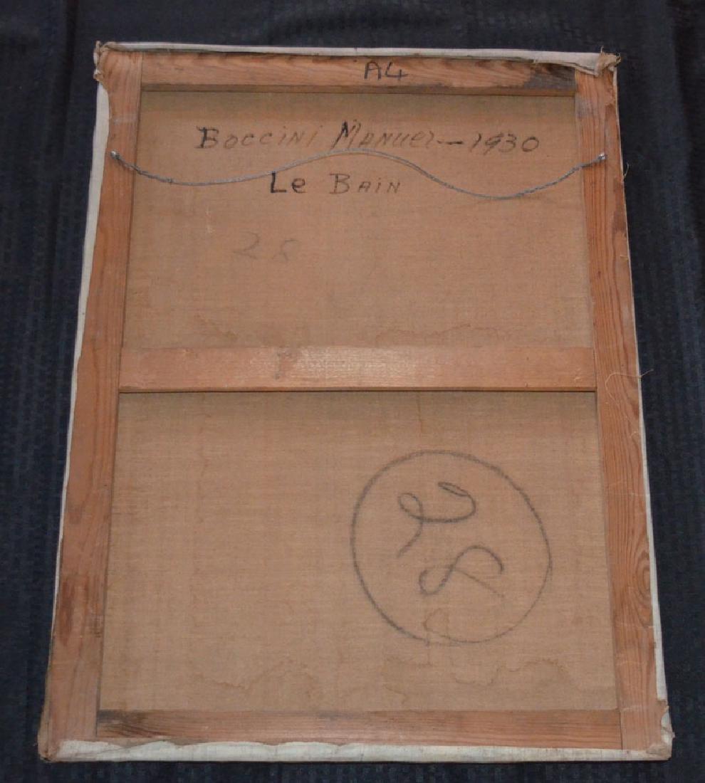 1930 Boccini Manuel Le Bain Nude Painting - 3