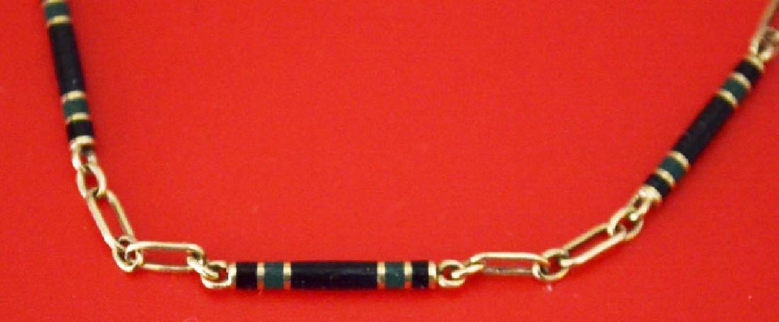 Elegant Antique 14K gold And Enamel Watch Fob - 2