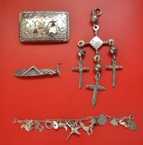 Extrordinary Lot Of  Vintage Sterling Jewelry ( Taxco)