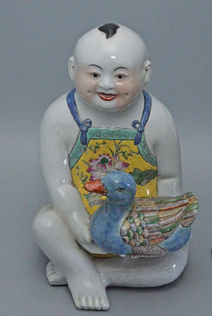 2 Chinese Porcelain Children Figures - 2
