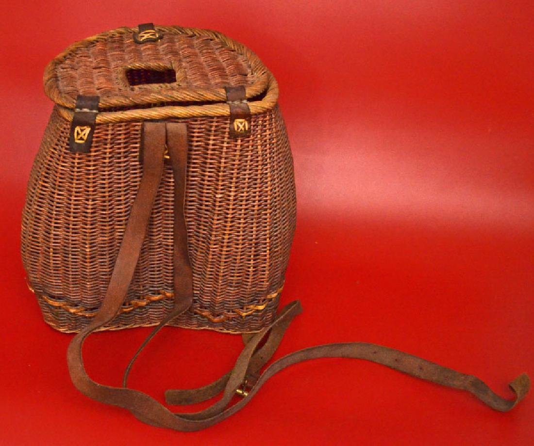 Tightly Reed Woven Creel / Fishing Basket - 2