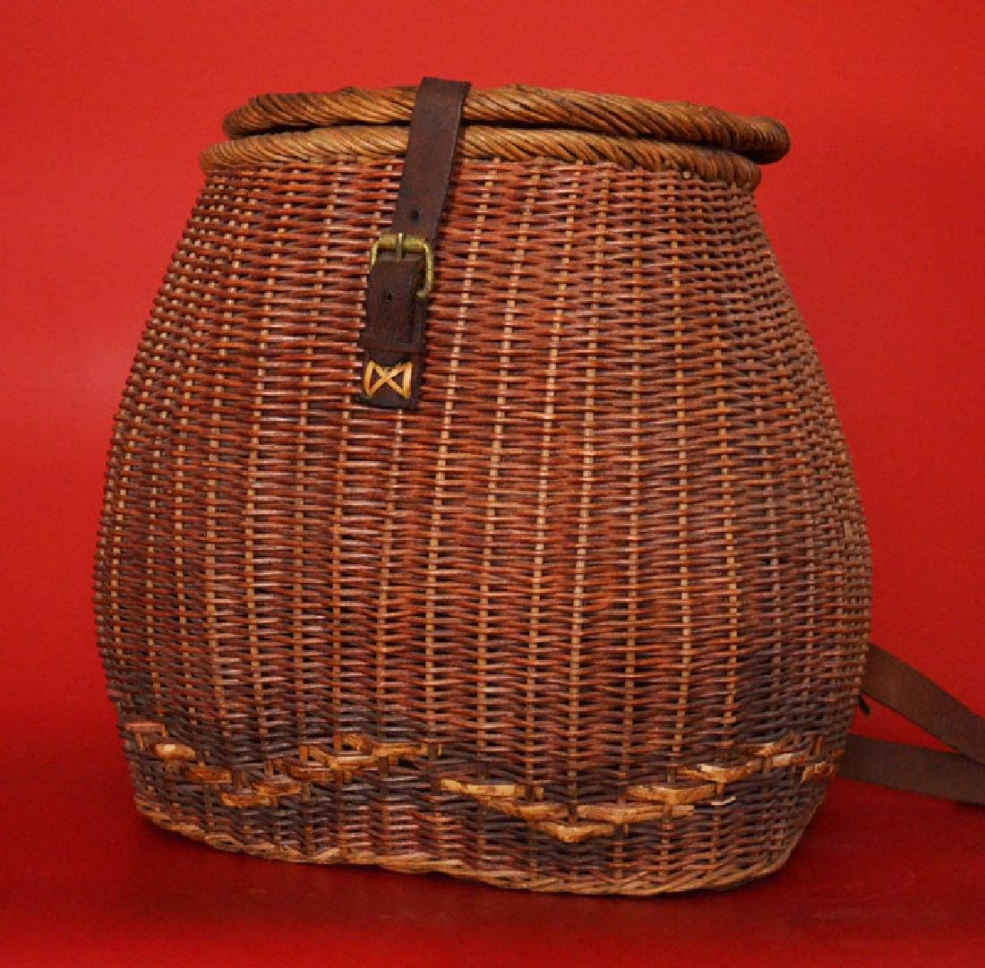 Tightly Reed Woven Creel / Fishing Basket - 3