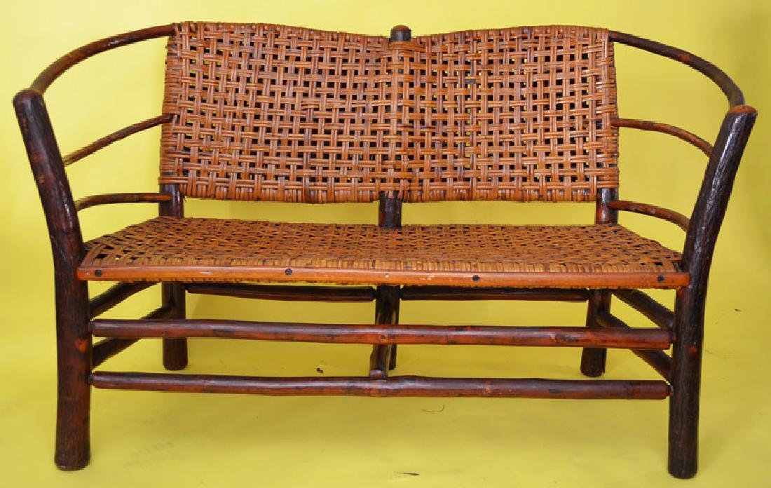 Old Hickory Bent Wood Settee / Love Seat