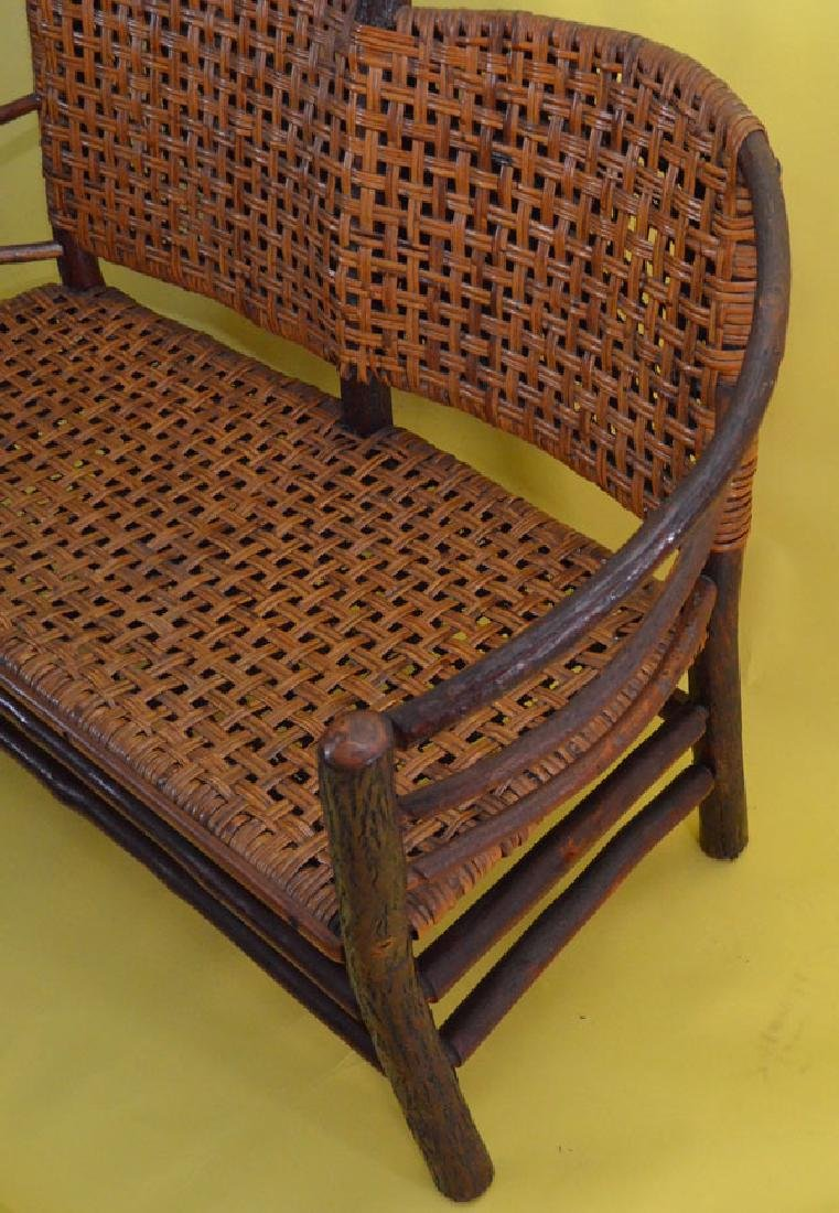 Old Hickory Bent Wood Settee / Love Seat - 2