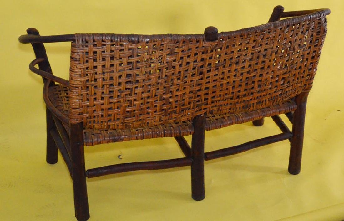 Old Hickory Bent Wood Settee / Love Seat - 3