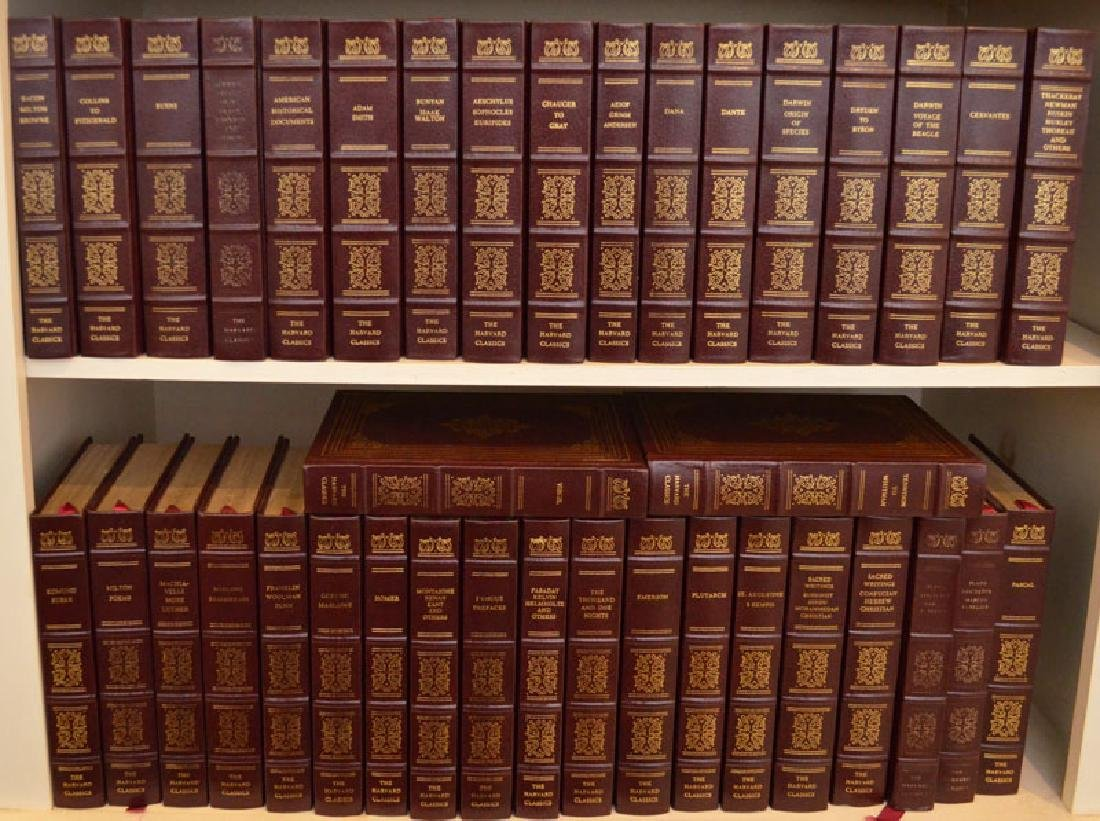 Set of 38 Harvard Classics Leather Bound Books