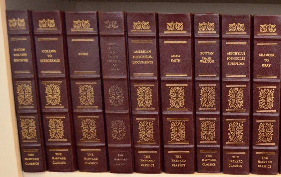 Set of 38 Harvard Classics Leather Bound Books - 2