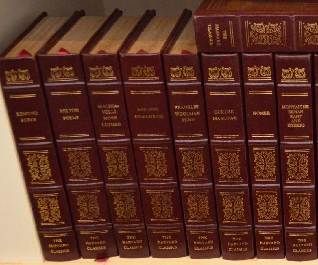 Set of 38 Harvard Classics Leather Bound Books - 4