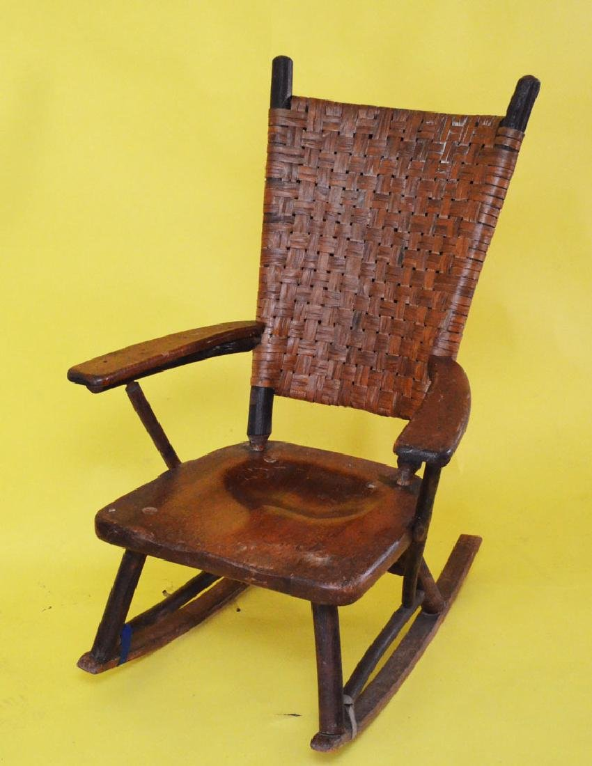 Antique Stamped Old Hickory Rocking Chair