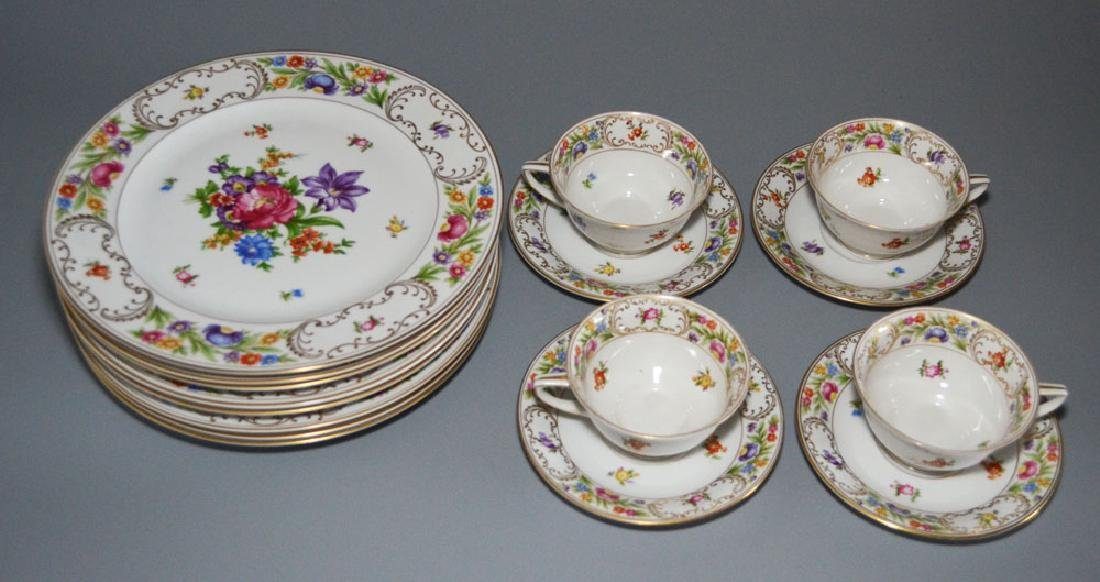 Lot Of Heinrich Floral Painted China