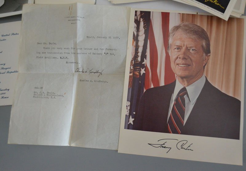 Presidential Lot of Signed Photos Lindberg Signature - 2