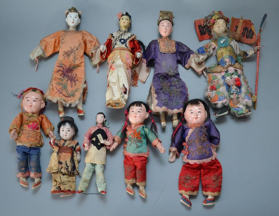 Large Collection of Asian Dolls (Chinese, Japanese)
