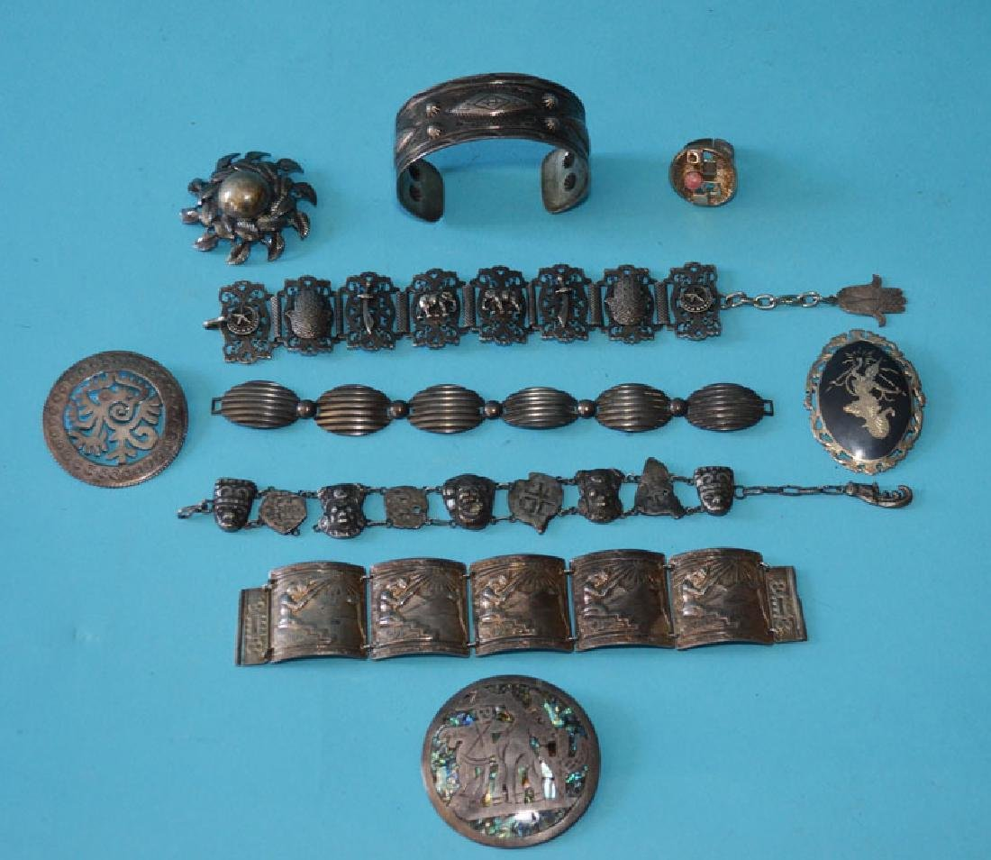 Eclectic Sterling Silver Jewelry Lot