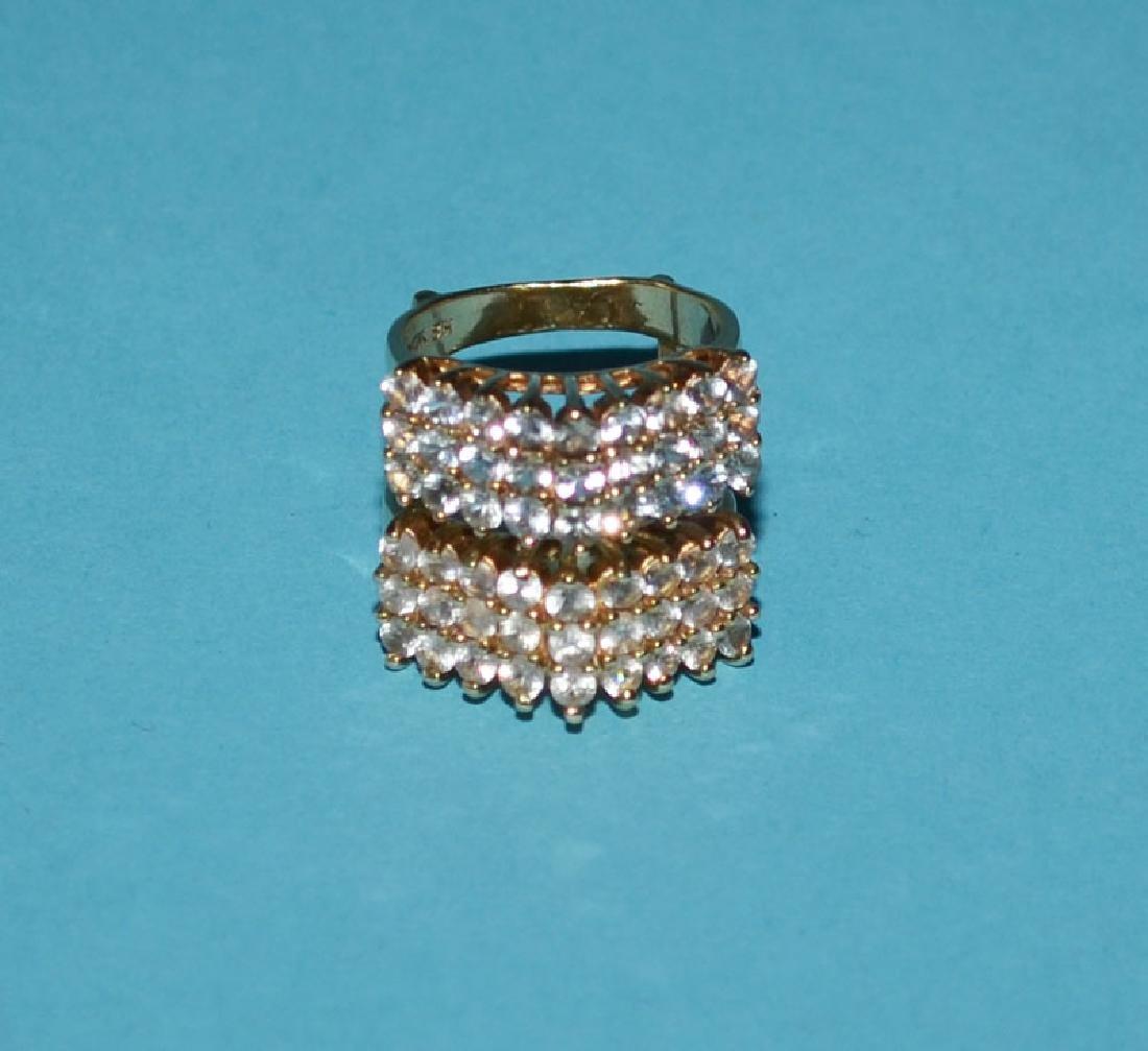 14k Gold & Diamond Ring Guard