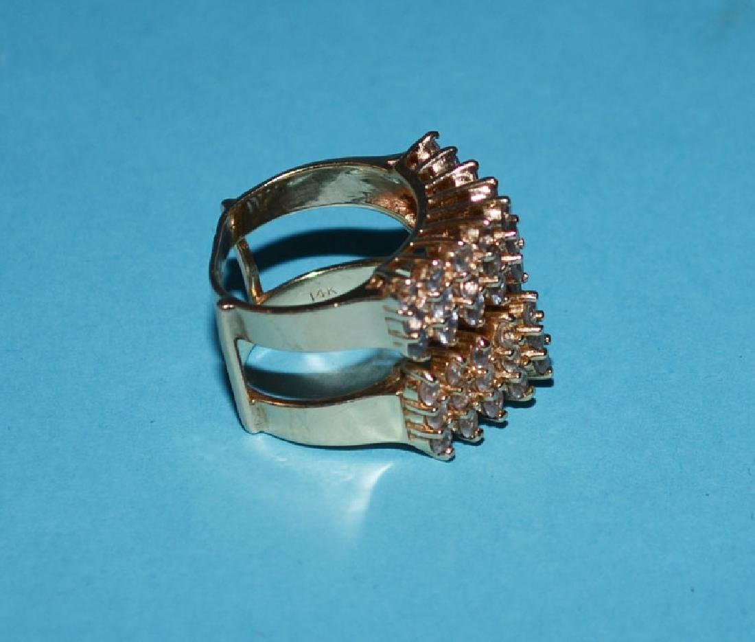 14k Gold & Diamond Ring Guard - 2
