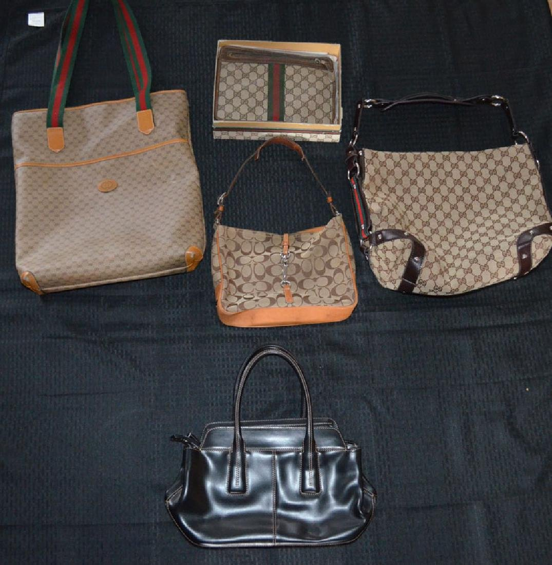 Collection of Vintage Gucci Bags (1 Coach)