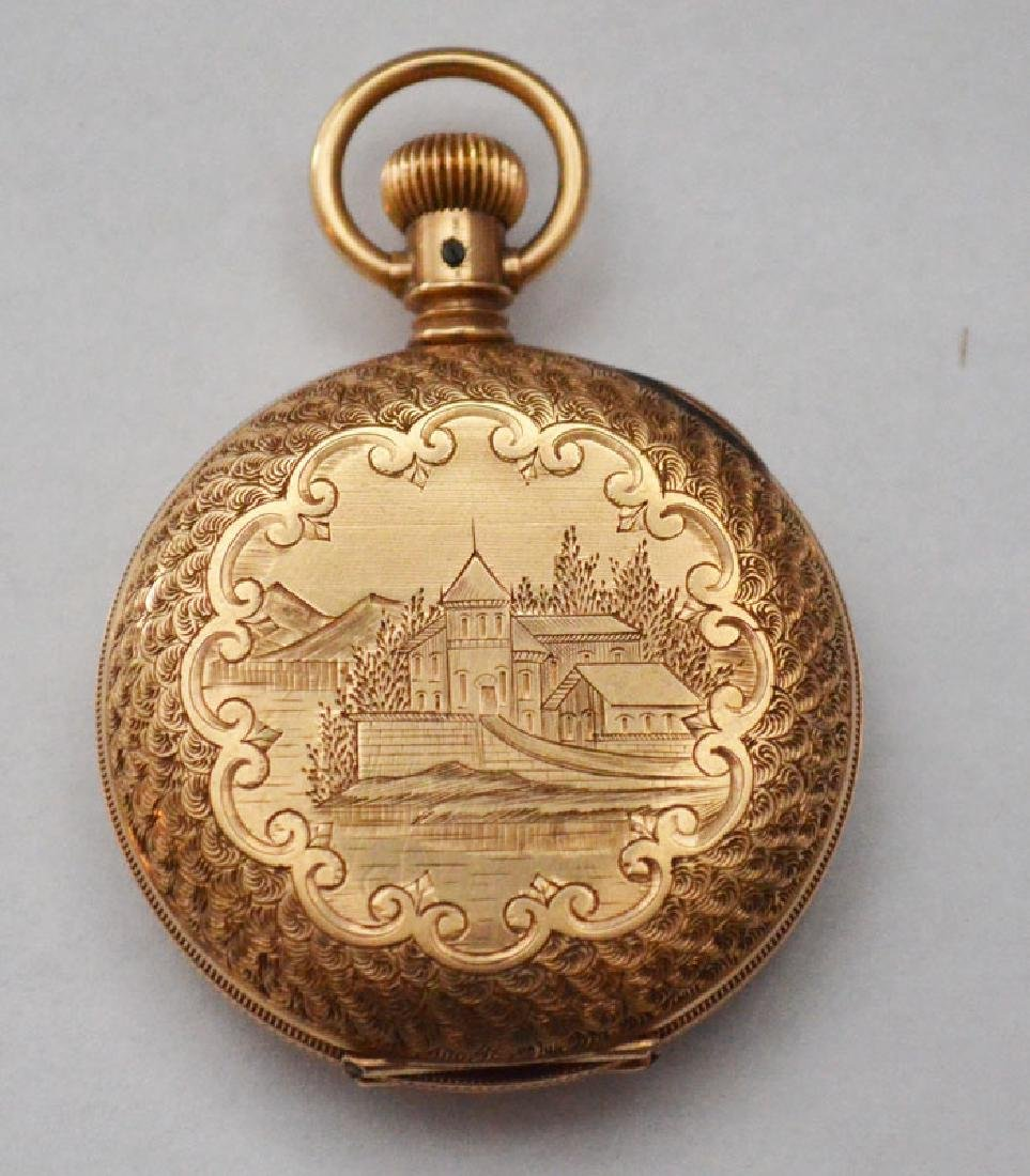 14K Gold Waltham Hunter Case Pocket Watch
