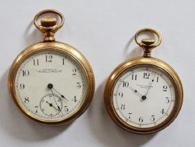 2 Waltham Open Face Pocket Watches