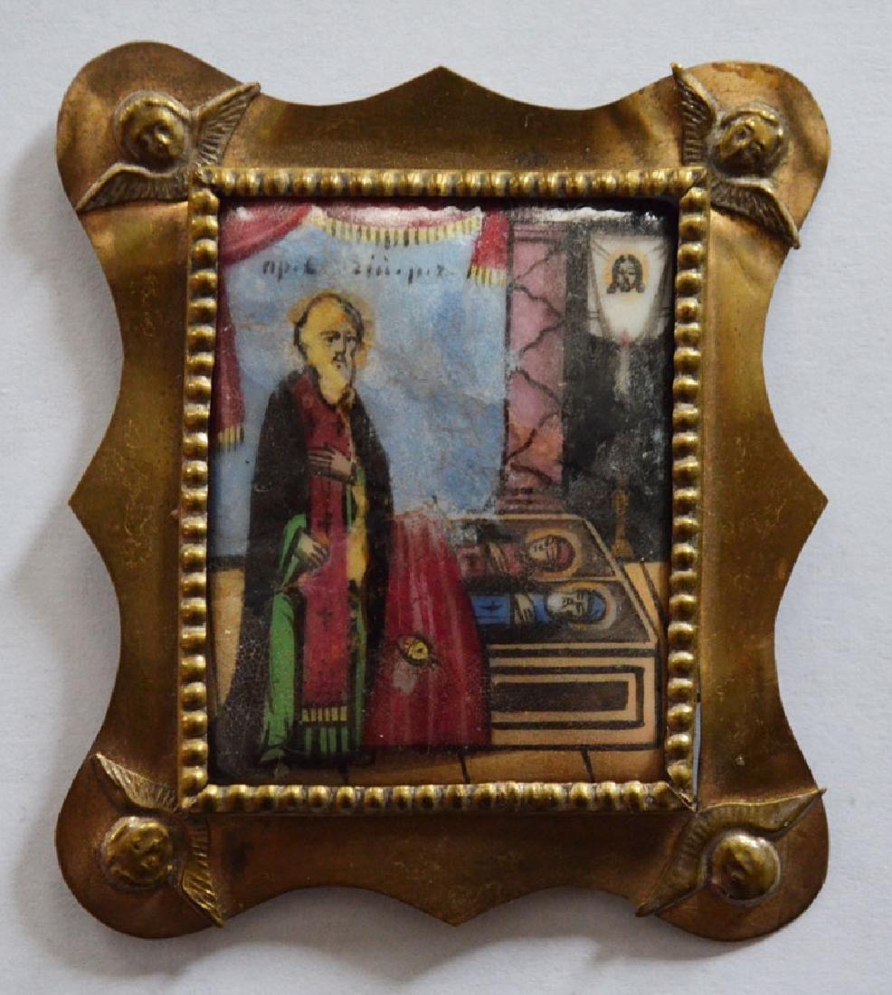 Antique Miniature Enamel Travel Icon