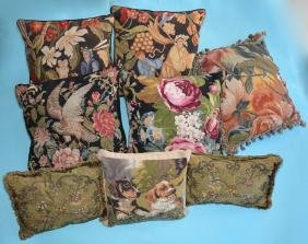 Lot Of  8  Decorative Needlepoint Pillows ( Dogs )