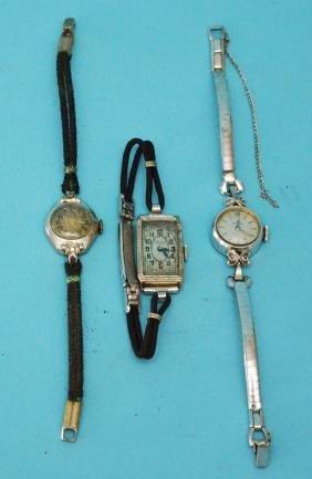 3 Vintage 14k Gold  Ladies Watches ( Omega )