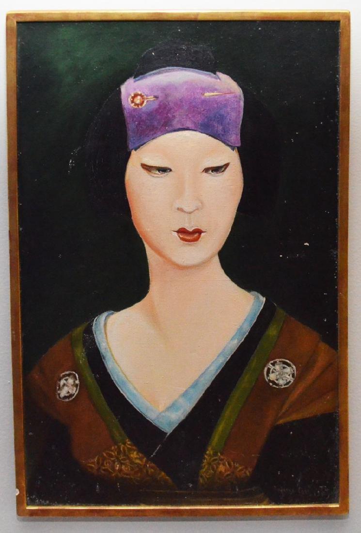 O/C Portrait Of An Asian Woman Signed Nina Boiz