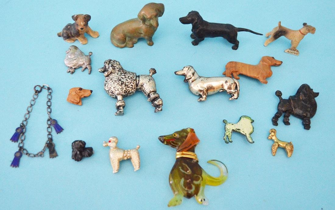 Wonderful Dog Lot Of Figures & Costume Pins