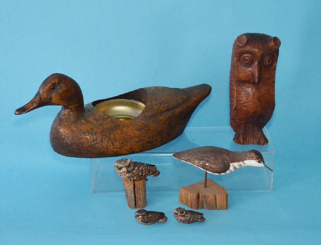 Lot Of Vintage Folk Art Animals  ( Ducks, Owls, Etc )