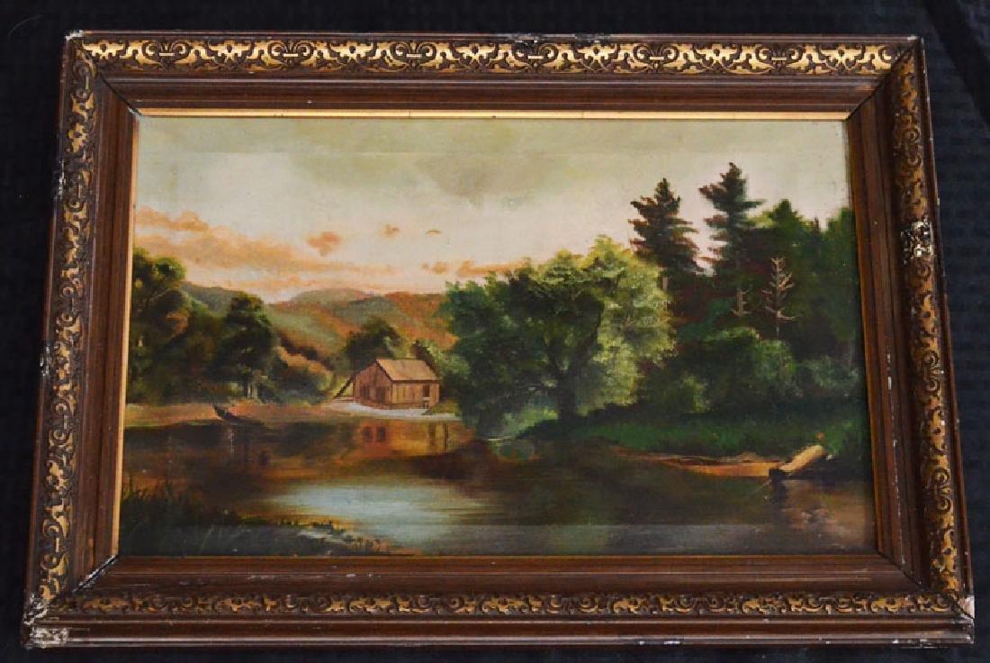 Tasteful Victorian O/C Cabin And Lake Scene