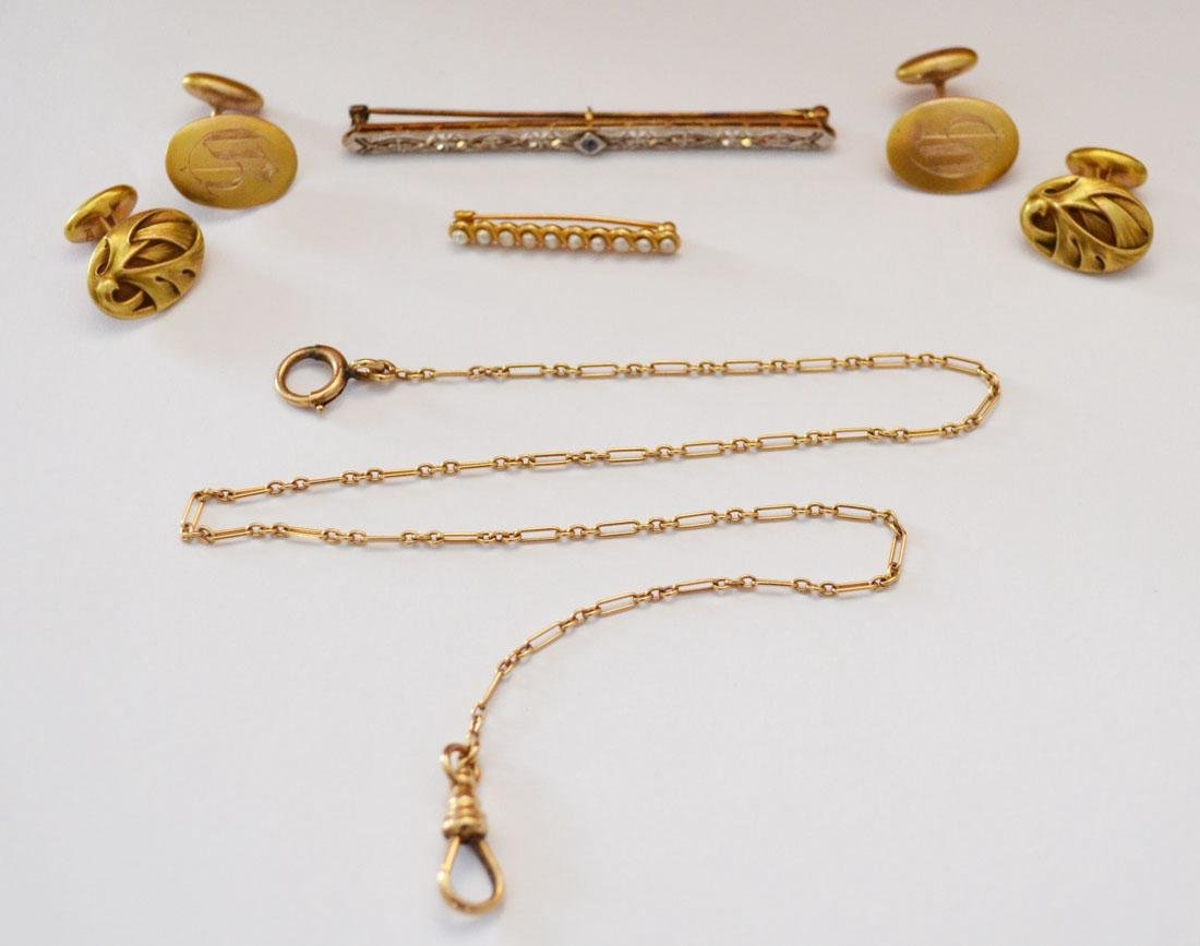 Nice Lot Of Vintage 14k Gold Jewelry