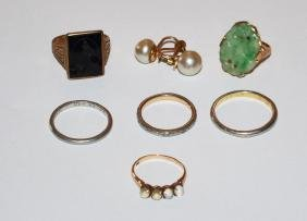 Great Lot Of 10K & Platinum  Gold Jewelry