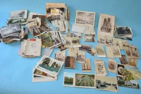 Large Lot Of Postcards and Cabinet Cards