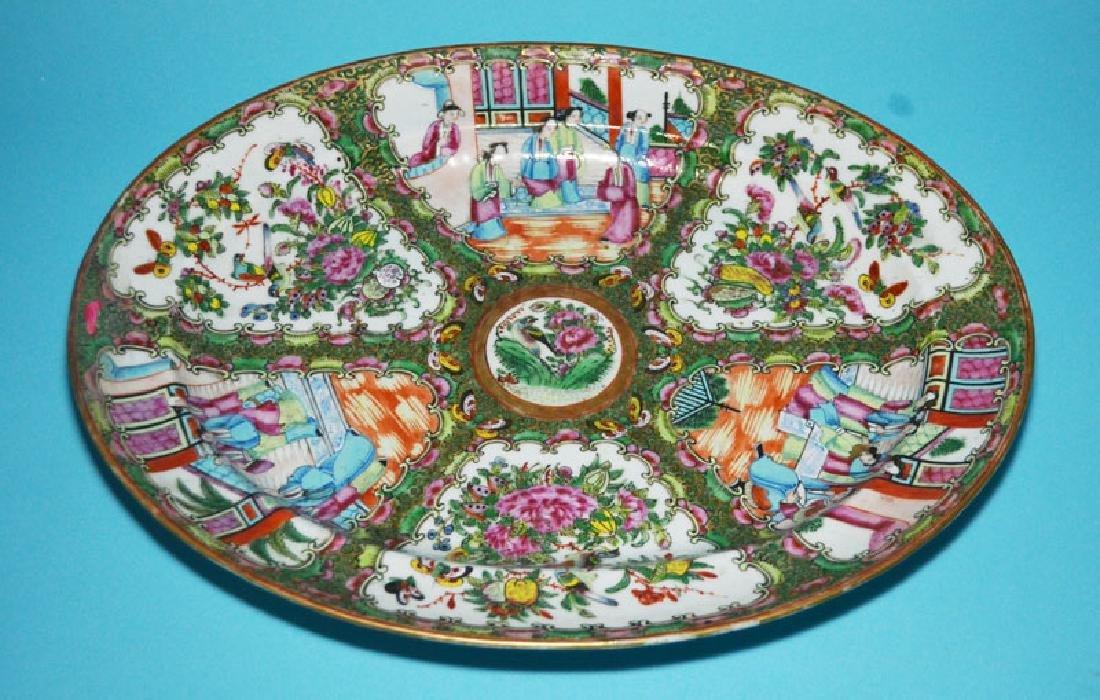 Large Antique Rose Medallion Platter