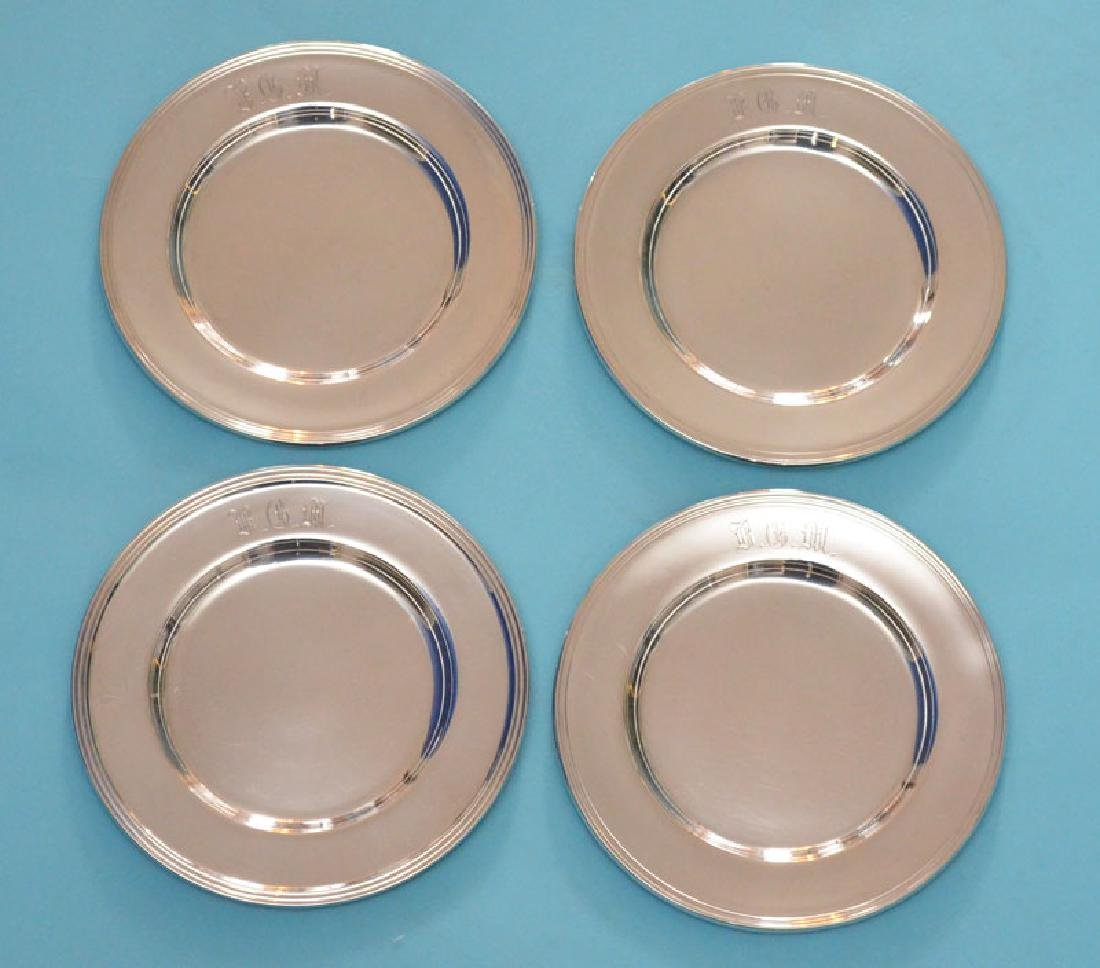 Lot Of 12 Sterling Silver Bread & Butter Plates