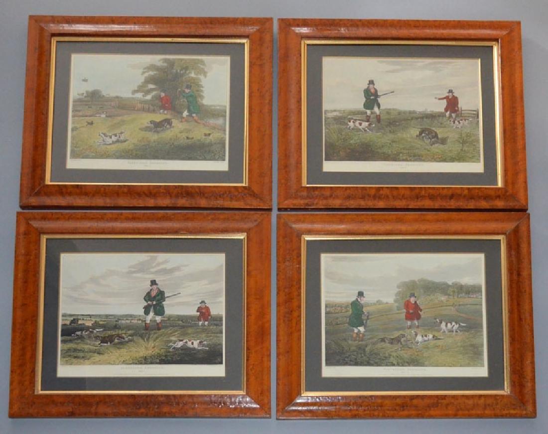 Set Of 4 Hand Colored Aqua Tint Engravings H. Alken