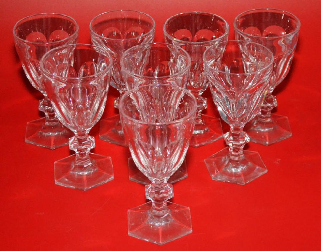Set Of 8 Baccarat Harcourt Tall Water Glasses