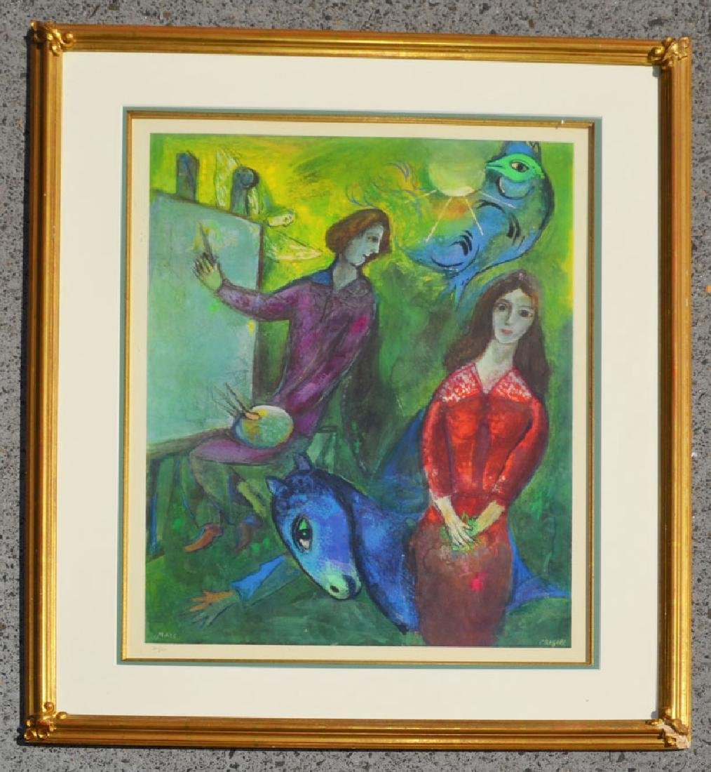 Large Numbered Edition Marc Chagall Print