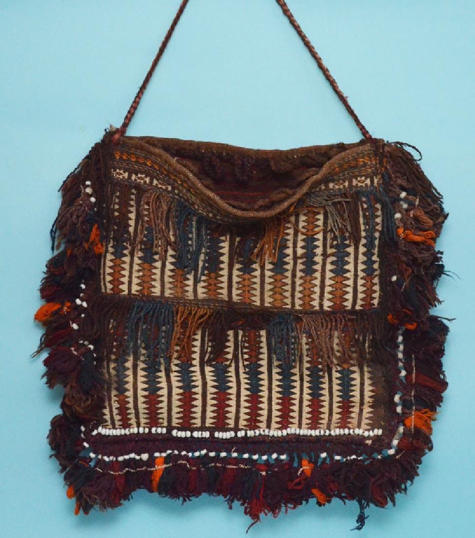Vintage Oriental Carpet Saddle Bag