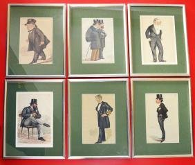 6 Framed Vanity Fair Spy Statesman Prints
